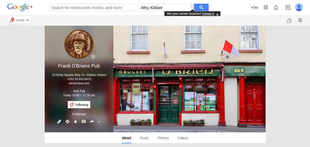 Frank_O_Briens_Pub-Athy-Google+