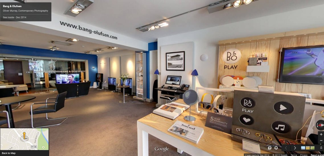 Bang and Olufsen Dublin Google Maps Business View Virtual Tour