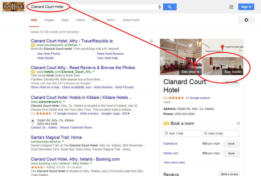 Clanard Court Hotel Google Search Result