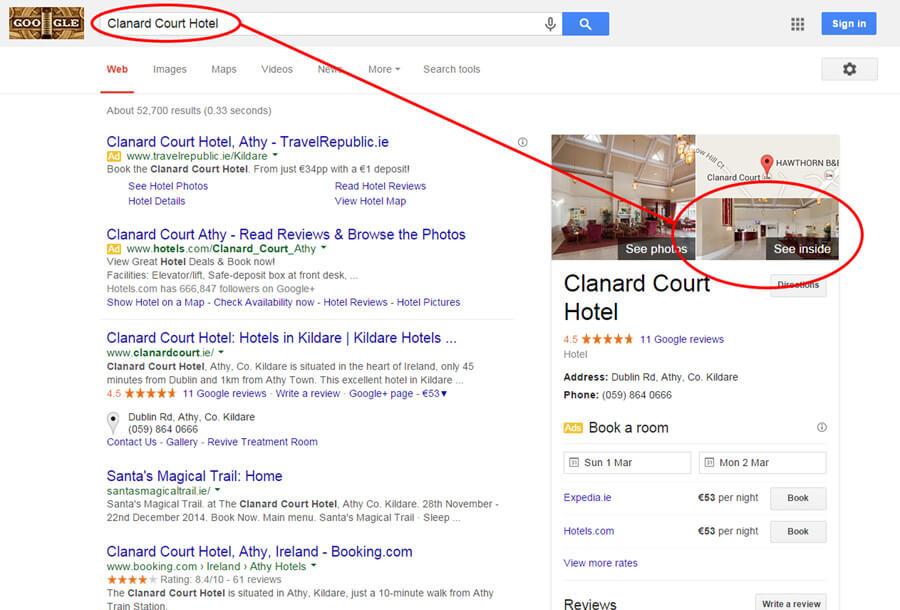 Clanard Court Hotel Google Search Result
