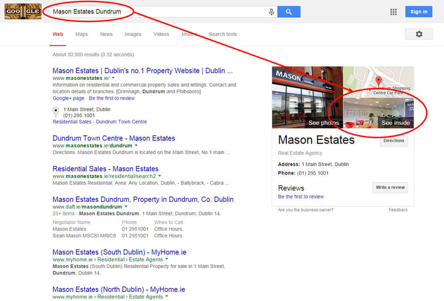 Mason Estates Google Maps