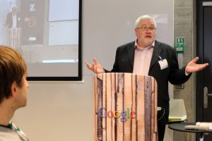 Oliver Murray addressing the Google Annual Awards in Zurich, Switzerland