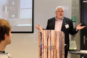 Oliver Murray addressing the Google Annual Awards in Zurich, Switzerland