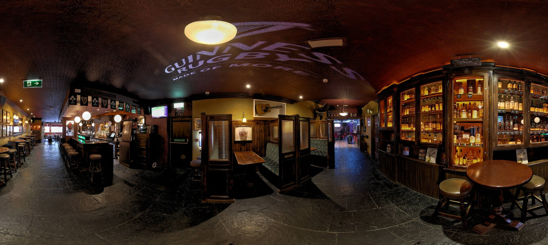 An Pucan Pub Bar Galway Panorama