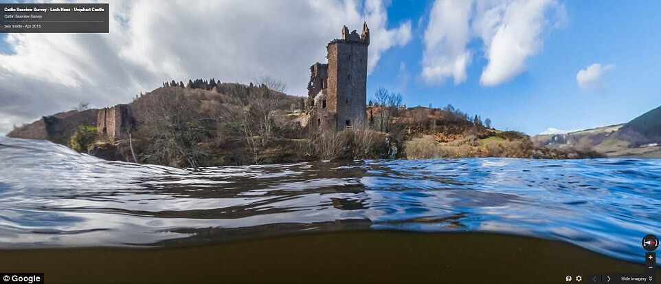 Google Street View Technology records Loch Ness above and below water