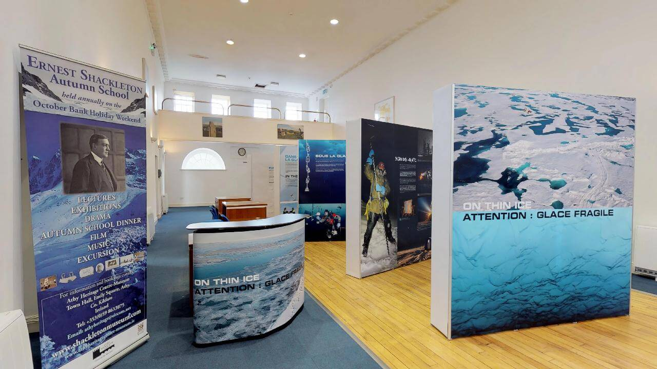 On Thin Ice Exhibition Shackleton-Museum Athy Heritage Centre Kildare Ireland